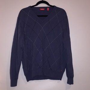 Blue Cozy izod vintage style argyle sweater